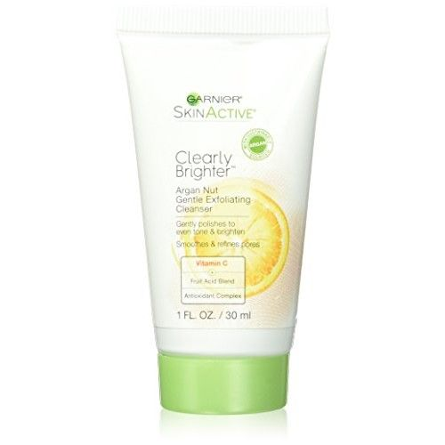 Garnier Skin SkinActive Clearly Brighter Argan Nut Gentle Face Scrub, 1 Fluid Ounce