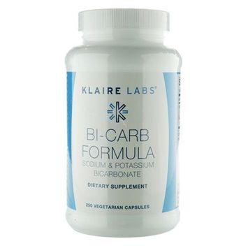 Klaire Labs Sodium Bicarbonate & Potassium Bicarbonate Capsules - Bi-Carb Formula (250 Capsules)