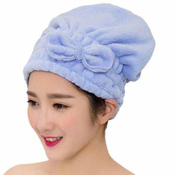Lanhui_Microfiber Bath Towel Hair Dry Hat Cap Quick Drying Lady Bath Tool