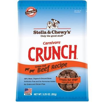 Stella and Chewys Carnivore Crunch Beef Treats 3.25oz
