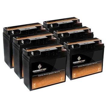 12V 18AH Sealed Lead Acid (SLA) Battery - T3 Terminals - for ZB-12-18 - 6PK