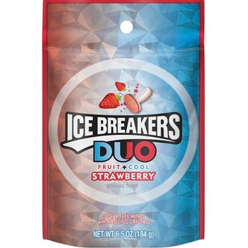 Ice Breakers Duo Fruit & Cool Strawberry, 6.5 oz