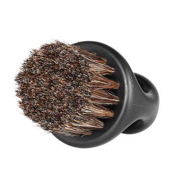Anself Men's Beard Brush Barber Hair Sweep Brush Mustache Shaving Brush for Hairdressing Salon Househ
