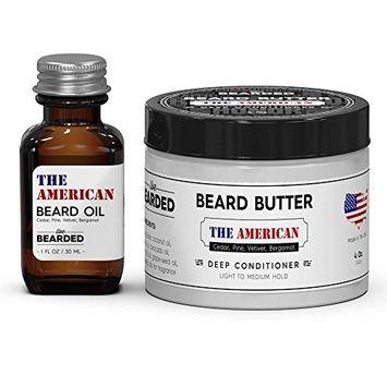 Pine, Cedar, Vetiver, Bergamot Beard Oil Kit   Live Bearded Made in USA   American Mens Beard Oil Kit [Campfire Fragrance - The American]