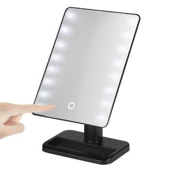Creazy 20 LED Lights Vanity Makeup Mirror Touch Screen Lighted Tabletop Cosmetic Mirror