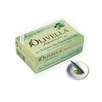 Olivella Face and Body Soap, Fragrance Free, All-natural 100 Percent Virgin Olive Oil From Italy, 3.52-oz Bars (Pack of 3)
