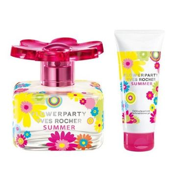 Yves Rocher Flowerparty Summer 2 -piece Gift Set : Flowerparty Summer Eau de Toilette, 50 ml -Perfumed Body Lotion, 100 ml. Very Limited Edition. THIS EDITION IS NOT AVAILABLE IN USA. Imported from France