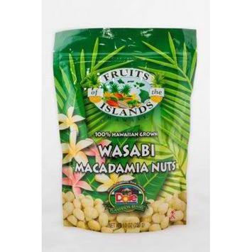 100% Hawaiian Grown Wasabi Macadamia Nuts Fresh from Hawaii 10 oz (Item ID: H010301000000117)