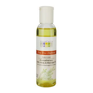 Aura Cacia Aromatherapy Bath, Body And Massage Oil, Tea Tree Harvest - 4 Oz