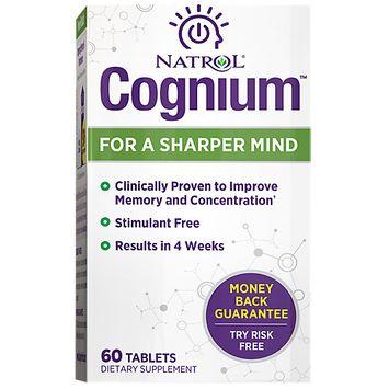 Cognium, For a Sharper Mind, 60 Tablets, Natrol