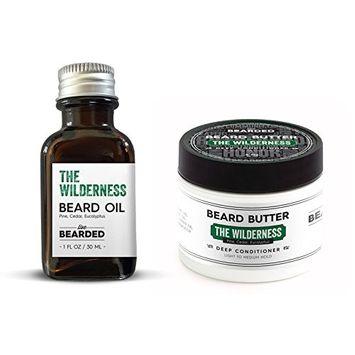 Pine, Cedar, Eucalyptus Beard Oil Kit   Live Bearded Made in USA   Wilderness Mens Beard Oil Kit [Pine, Cedar, Eucalyptus - The Wilderness]