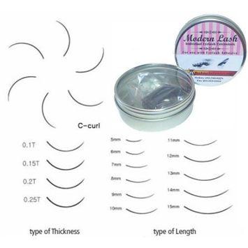 Modern Lash EyeLash Extensions C - Curl Lashes .2mm Thick 0.5 gram Choose Length