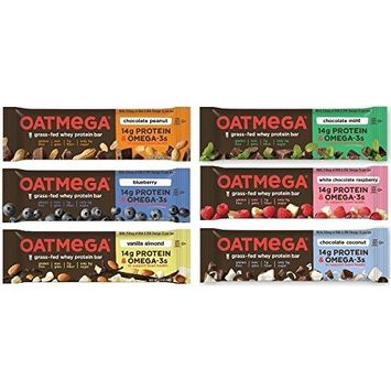 Nutrition Bars - Grass-Fed Whey Protein - Gluten-Free, Egg-Free - Variety Pack of 12 Bars (2 of Each Flavor)
