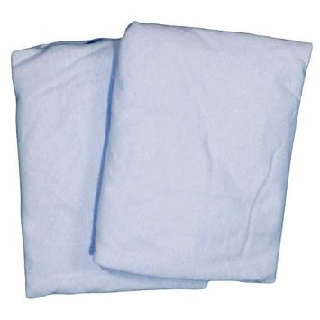 Cradle 2 Pack Value Jersey Fitted Sheet Blue
