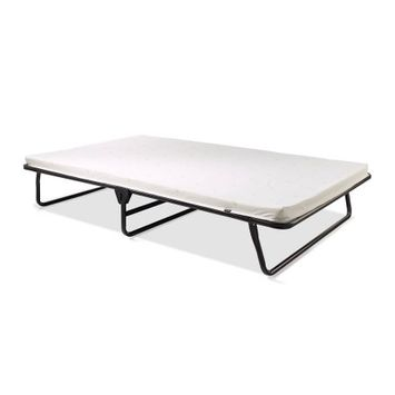 Stevro Ltd JAY-BE Saver Folding Bed with Airflow Mattress, Oversized, Black/White