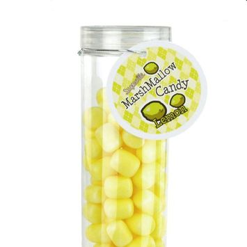 Firefly Imports Marshmallow Candy Plastic Tube Party Favor, 200-gram, 12-Inch, Lemon
