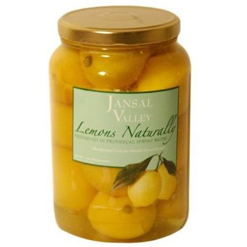 Jansal Valley Lemons Naturally Preserved in Provencal Spring Water, 2.2 Pounds