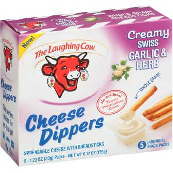 The Laughing Cow® Creamy Swiss Garlic & Herb Cheese Dippers