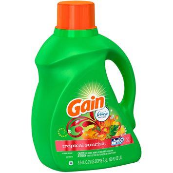 Gain® with Febreze™ Tropical Sunrise™ Liquid Laundry Detergent