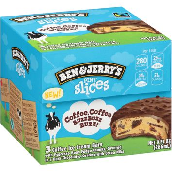 Ben & Jerry's® Pint Slices Coffee, Coffee Buzz Buzz Buzz Ice Cream Bars