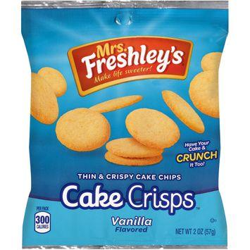mrs freshley's® cake crisps™ vanilla thin & crispy cake chips