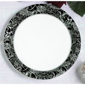 Wedding Silhouette 7-inch Paper Plates 25 Per Pack