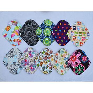 8 Inch Charcoal Bamboo Mama Cloth/ Menstrual Pads/ Reusable Sanitary Pads / Panty Liners