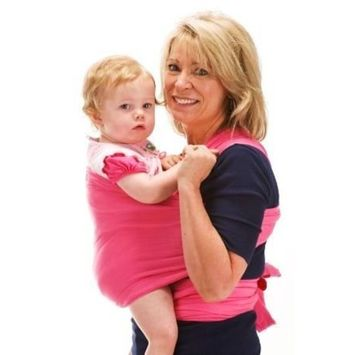 Original Sleepy Wrap Baby Carrier (Dark Pink)