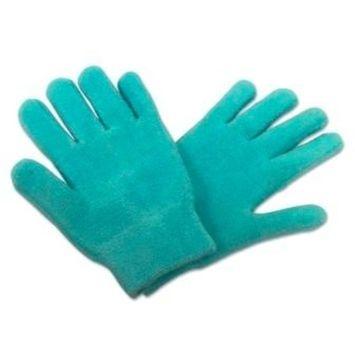 Silipos Moisturizing Gel Terry Cloth Gloves(Color=Blue)
