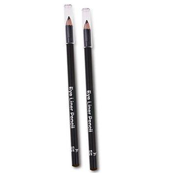 Womens 2 Pcs EyeLiner Smooth Waterproof Cosmetic Makeup Tools Eyeliner Pencil