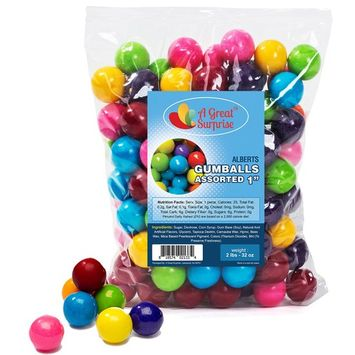 Gumballs in Bulk – Gumballs Refill – Gumballs for Gumball Machines – Gumballs 1 Inch - Bulk Candy 2 LB [Assorted]