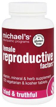 Michaels Naturopathic Programs Michael's Naturopathic Programs - Female Reproductive Factors - 120 Vegetarian Tablets