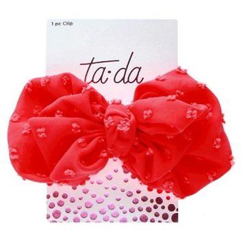 Ta-da™ Girls' Large Bow Clip Coral 1 ct