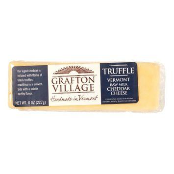 Grafton Village Truffle Cheddar Cheese, 8 Oz