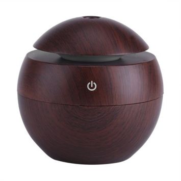Estink Ultrasonic Essential Oil Diffuser, LED Touch Aromatherapy Aroma Cool Mist Humidifier, USB Power Supply for Office Home Bedroom(Brown)
