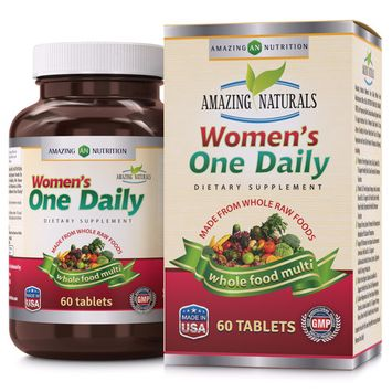 Amazing Naturals Women's One Daily Whole Food Multivitamin - 60 Tablets
