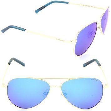 Polaroid PLD 8015/N J5G-JY Aviator Sunglasses Gold/Grey Blue Mirror Polarized Lens