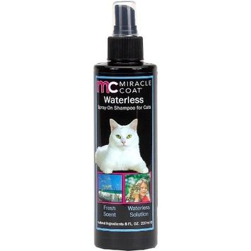 MIRACLE COAT CAT SHAMPOO AND CONDITIONER [Spray-On Waterless Shampoo]