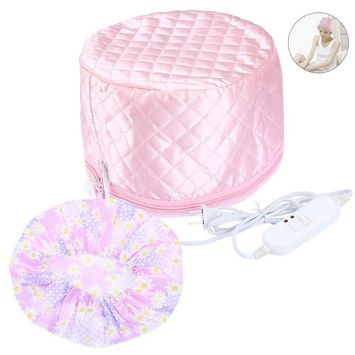 PRETTY SEE Thermal Hair Heat Cap Steamer Cap with 3 Temperature Control Modes for Hair Spa, Steaming, Nourishing, Treatment