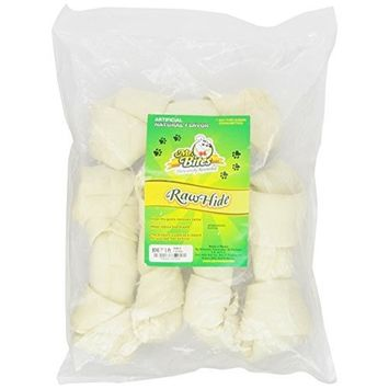 Mr Bites 7-Inch Natural Rawhide Bone, 5-Pack