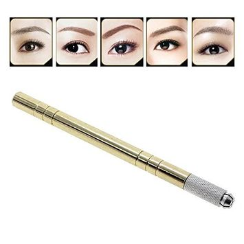 Huayang Permanent Eyebrow Makeup Handmade Manual Tattoo Pen Brushwork for Eyeliner,Eyebrows,Lip liner,Full Lip Color,Scar Camouflaging Reconstruction