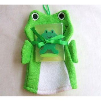 Frog Bath Set Scrub,Glycerin Soap Frog