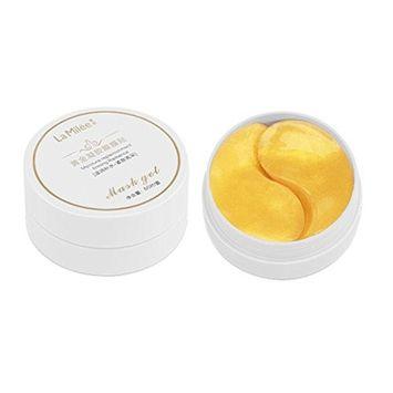 Hunputa Eye Mask,60 PCS Gold Eye Collagen Aging Wrinkle Under Crystal Gel Patch Anti Mask