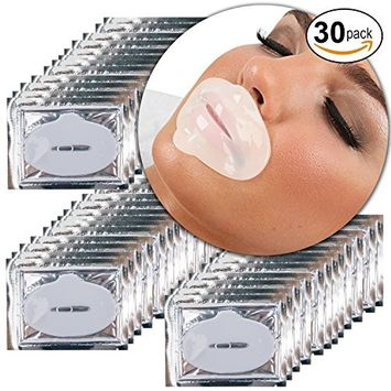 Beauty Anti Aging Treatments Set Kit of 30pcs Lips Mouth Milk White Collagen Gel Crystal Masks Patches Sheets for Fine Lines and Wrinkles Removal, Moisturizing Hydration, Skin Firming and Nourishing
