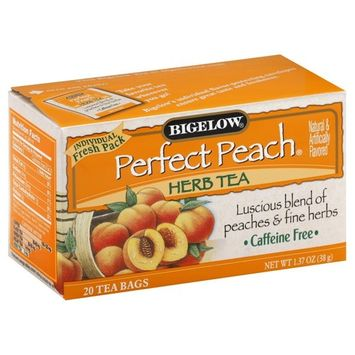 Bigelow Perfect Peach Herbal Tea 20 tea bags