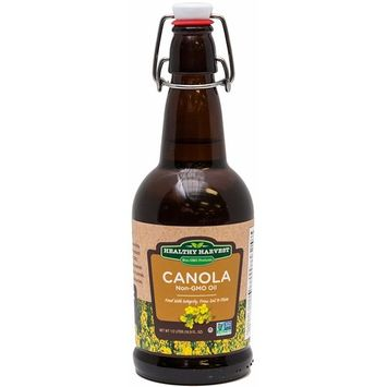 Healthy Harvest Canola Oil - Non-GMO Certified with Antioxidants and Omega-3s (Half Liter - 16.9oz)