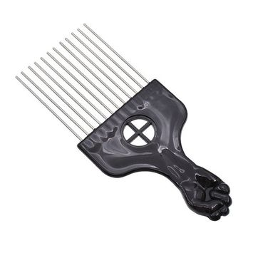 BetterUS Metal Afro Pick Comb Hair Care Styling Tools Hair Comb Fashion