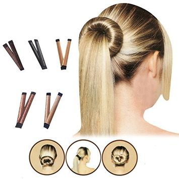 Fvermecky 5 PCS Bun Maker Women Girls DIY Hair Bun Maker Styling French Donut Hairstyle French Twist Doout Hairstyle Accessories