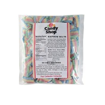 Candy Shop Rainbow Sour Candy Belts - 1 lb Bag