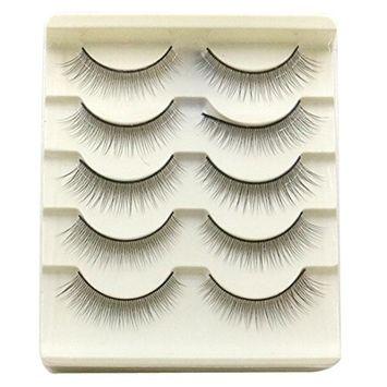 Usstore 5 pair Natural Fake False Eye Lash Eyelashes Hand Made Makeup